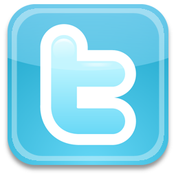 twitter link and logo
